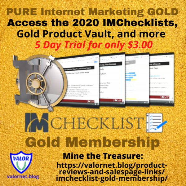 IMChecklist Gold Membershiop