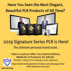 2019 Signature Series PLR