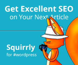 Squirrly WP SEO banner