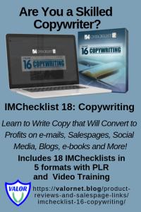 IMChecklist 18: Copywriting
