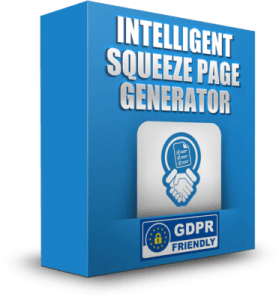 Intellegent Squeeze Page Generator box